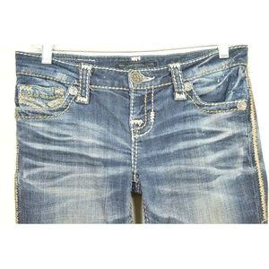 Big Star Jeans - Big Star jeans 25 x 32 LIV dark wash bling back po